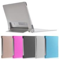 Чехол подставка с рамочной защитой экрана текстура Линии для Lenovo Yoga Tablet 10
