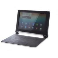 Чехол подставка с рамочной защитой экрана текстура Линии для Lenovo Yoga Tablet 10 Черный