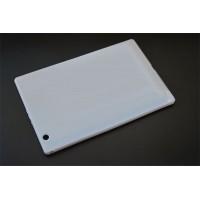 Силиконовый матовый полупрозрачный чехол для Sony Xperia Z4 Tablet Белый