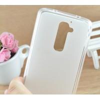 Силиконовый матовый полупрозрачный чехол для LG Optimus G2 mini Белый