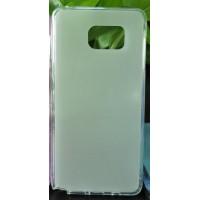 Силиконовый матовый полупрозрачный чехол для Samsung Galaxy Note 5 Белый