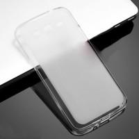 Силиконовый матовый полупрозрачный чехол для Samsung Galaxy Grand 2 Белый