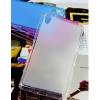 Силиконовый матовый полупрозрачный чехол для Sony Xperia Z2 Белый