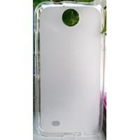 Силиконовый матовый полупрозрачный чехол для HTC Desire 300 Белый