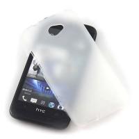 Силиконовый матовый полупрозрачный чехол для HTC Desire 601