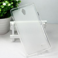 Силиконовый матовый полупрозрачный чехол для Huawei Ascend G700 Белый