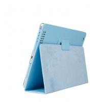 Чехол подставка с рамочной защитой серия Full Cover для Ipad Air 2 Голубой
