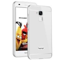 Двухкомпонентный чехол c металлическим бампером с поликарбонатной накладкой для Huawei Honor 5C Белый
