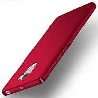 Пластиковый непрозрачный матовый чехол с улучшенной защитой элементов корпуса для Xiaomi RedMi 4 Красный