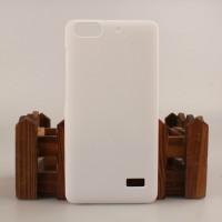 Пластиковый матовый непрозрачный чехол для Huawei Honor 4C Белый