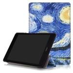 Сегментарный чехол книжка подставка на непрозрачной поликарбонатной основе с полноповерхностным принтом для ASUS ZenPad 3S 10