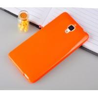 Силиконовый непрозрачный чехол для Xiaomi Mi4 Оранжевый