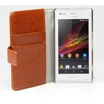Чехол книжка-портмоне для Sony Xperia M