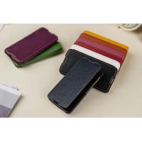 Кожаный чехол портмоне (премиум нат. кожа) для Blackberry DTEK60