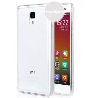 Двухкомпонентный чехол с силиконовым бампером и поликарбонатной транспарентной накладкой для Xiaomi Mi4 Белый