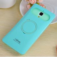 Силиконовый чехол с встроенным кольцом-подставкой для Xiaomi Mi4 Голубой