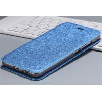 Чехол горизонтальная книжка подставка текстура Золото на силиконовой основе для Huawei Nova Синий