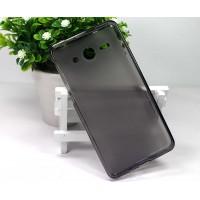 Полупрозрачный силиконовый чехол для Sony Xperia M Черный