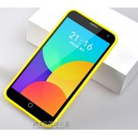Силиконовый чехол серия JellyCase для Meizu MX4 Желтый