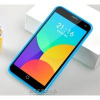 Силиконовый чехол серия JellyCase для Meizu MX4 Голубой