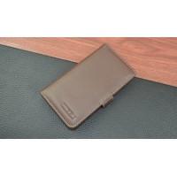 Кожаный чехол портмоне (нат. кожа) с крепежной застежкой для Meizu MX4 Коричневый