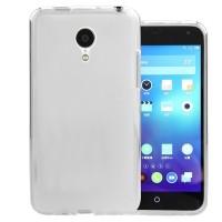 Силиконовый матовый полупрозрачный чехол для Meizu MX4 Белый