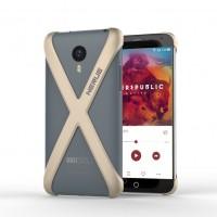 Чехол тонкий защитный каркас X для Meizu MX4 Бежевый