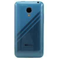 Ультратонкий дизайнерский силиконовый чехол для Meizu MX4 Голубой