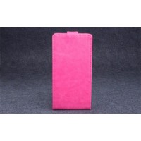 Клеевой чехол вертикальная книжка с магнитной застежкой для Highscreen Power Ice Розовый
