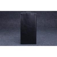 Клеевой чехол вертикальная книжка с магнитной застежкой для Highscreen Power Ice Черный