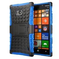 Чехол силикон/поликарбонат подставка экстрим защитный для Nokia Lumia 930 Синий