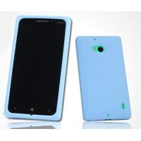 Силиконовый софт-тач премиум чехол для Nokia Lumia 930 Голубой