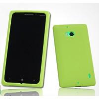 Силиконовый софт-тач премиум чехол для Nokia Lumia 930 Зеленый