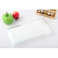 Полупрозрачный силиконовый чехол для Sony Xperia M Белый