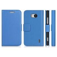 Чехол портмоне подставка с защелкой для Nokia Lumia 930 Голубой