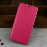 Чехол флип подставка на пластиковой основе для Samsung Galaxy J3 (2016) Розовый