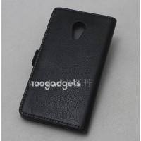 Кожаный чехол горизонтальная книжка (нат. кожа) на пластиковой основе для Meizu MX4 Коричневый