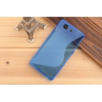 Силиконовый S чехол для Sony Xperia Z3 Compact Синий