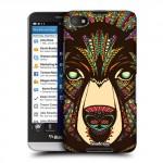 Пластиковый дизайнерский чехол принт Animals для Blackberry Z30 Медведь