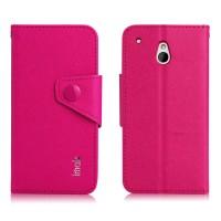 Чехол портмоне с кнопочной застежкой для HTC One Mini Пурпурный