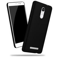 Пластиковый матовый металлик чехол для Xiaomi RedMi Note 3 Черный