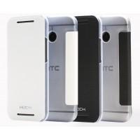 Чехол флип на прозрачной пластиковой основе для HTC One Mini