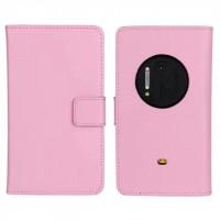 Чехол портмоне подставка для Nokia Lumia 1020 Розовый