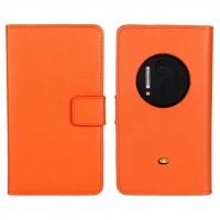 Чехол портмоне подставка для Nokia Lumia 1020 Оранжевый