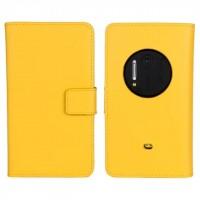 Чехол портмоне подставка для Nokia Lumia 1020 Желтый