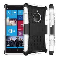 Силиконовый чехол экстрим защита для Nokia Lumia 830 Белый