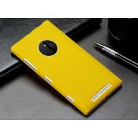 Пластиковый матовый металлик чехол для Nokia Lumia 830 Желтый