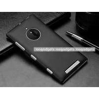 Пластиковый матовый металлик чехол для Nokia Lumia 830 Черный