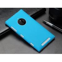Пластиковый матовый металлик чехол для Nokia Lumia 830 Голубой