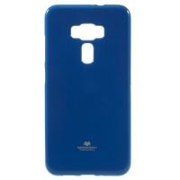 Силиконовый глянцевый непрозрачный чехол для Asus ZenFone 3 5.5 Синий